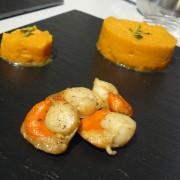La purée de carottes et ses saint jacques